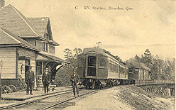 Rawdon Station, c.1910. (Photo - Rawdon Historical Society)